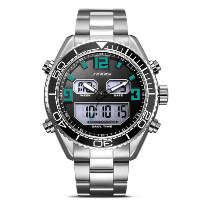 아재몰 디지털 손목시계_SINOBI 9731 Dual Display Digital Watch Men Chronograph Luminous Display Watch Fashion Outdoor Watch