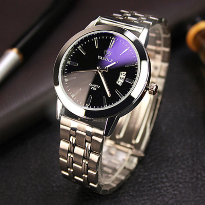 아재몰 아재 일반 손목시계_YAZOLE 296 Fashion Men Quartz Watch Casual Date Display Bussiness Wristwatch