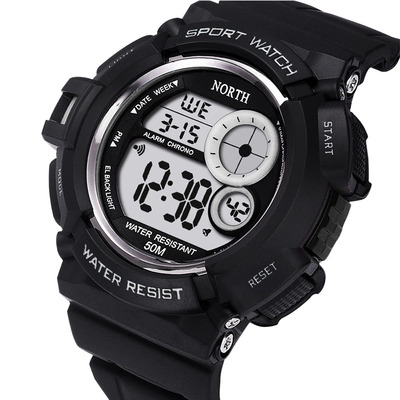 아재몰 디지털 손목시계_NORTH 2002 Sport Watch Men Waterproof LED Military Student Digital Watch