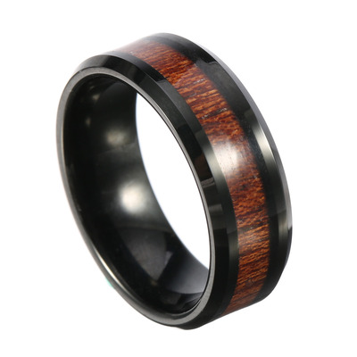 아재몰 아재 반지_8mm Classic Mens Wood Tungsten Ring Tungsten Carbide Colorfast Anallergic Engagement Rings for Men