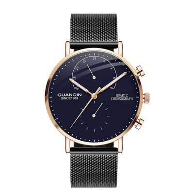 아재몰 아재 일반 손목시계_GUANQIN GS19101 Business Watch Luxury Luminous Big Dial Men Quartz Wrist Watch