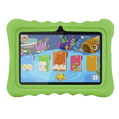 아재몰 해외직배송_태블릿_안드로이드_Ainol Q88 RK3126C 1.3GHz 1GB RAM 16GB Android 7.1 OS Kid Tablet-Green