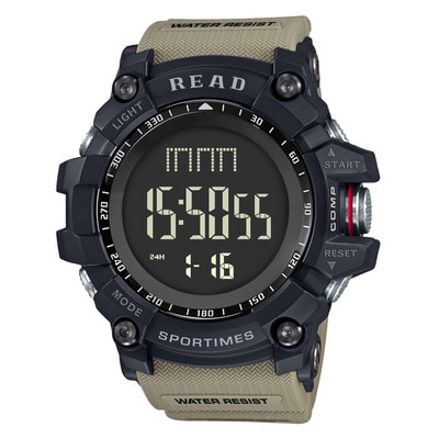 아재몰 디지털 손목시계_READ R90002 Digital Watch Multifunction Luminous Display Fashion Stopwatch Double Time Alarm Watch