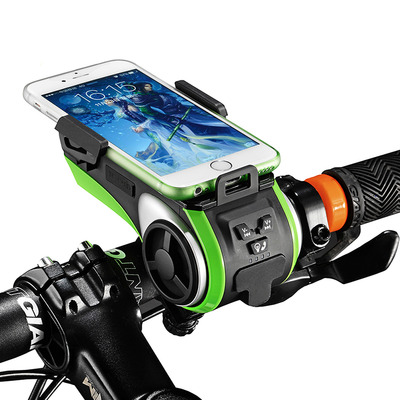 아재몰 자전거 헤드라이트 조명_ROCKBROS Multifunction Bicycle Phone Holder Bike Light-bluetooth Audio Powerbank Cycling Ring Bell