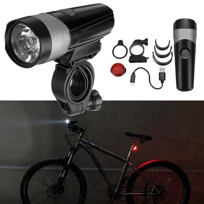 아재몰 자전거 라이트 조명세트_WHeeL UP 600LM Bicycle Light Cycling Light Bike Light Tail Light Set USB Rechargeable Motorcycle