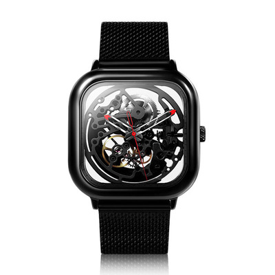 아재몰 기계식 손목시계_XIAOMI CIGA Design Men Automatic Mechanical Watch Full Hollow Stainless Steel Strap Wrist Watch