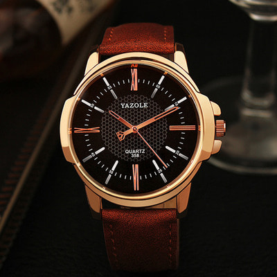 아재몰 아재 일반 손목시계_YAZOLE 358 Fashion Men Quartz Watch Luxury Roman Numeral Wrist Watch