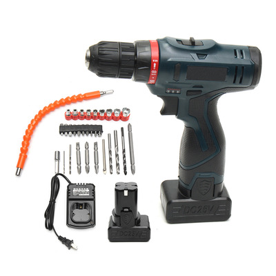 아재몰 해외직배송_전동공구_드라이버_24V Electric Screwdriver Power Drill Brushess Driver Dual Speed Impact 2 Lithium-ion Battery