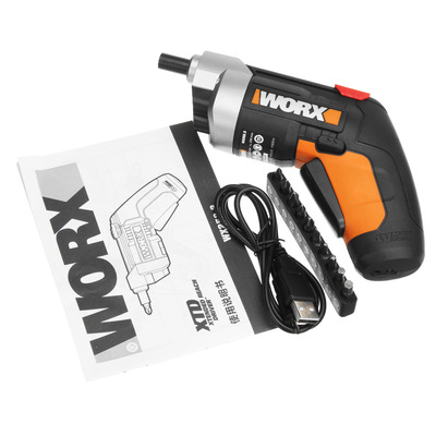 아재몰 해외직배송_전동공구_드라이버_WORX 4V Electric Screwdriver Cordless Household Rechargeable Screwdriver with 10 Bits