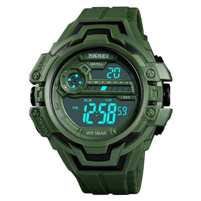 아재몰 디지털 손목시계_SKMEI 1383 Fashion Calendar Stopwatch Luminous Display Digital Watch 50M Waterproof Sport Watch