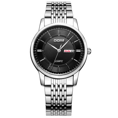 아재몰 아재 일반 손목시계_DOM M-11D Waterproof Men Wrist Watch Stainless Steel Business Style Quartz Watches
