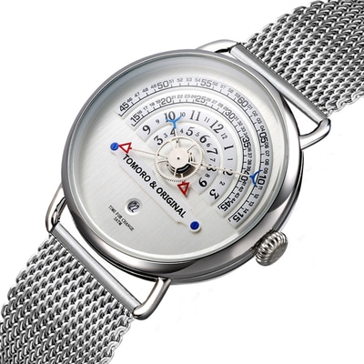 아재몰 디자인 손목시계_TOMORO TMR1019 Unique Design Men Wrist Watch Stainless Steel Strap Calendar Quartz Watch