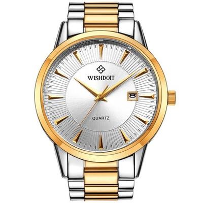아재몰 디자인 손목시계_WISHDOIT WSD-003G Fashion Men Quartz Watch Luxury Date Display Business Wrist Watch