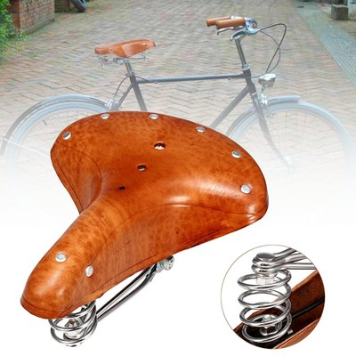 아재몰 자전거안장_BIKIGHT Genuine Leather Cycling Bicycle Saddle Seat Comfortable Riding Cushions Bike Saddle