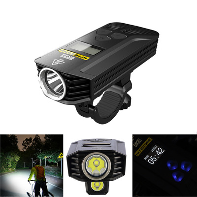 아재몰 자전거 헤드라이트 조명_Nitecore BR35 1800LM L2 U2 OLED Display Dual Distance Beam 6800mAh Lithium Battery Bike Front Light