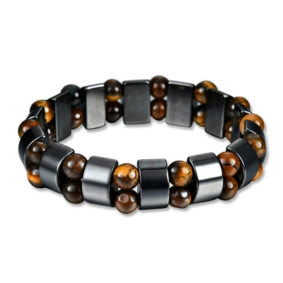 아재몰 아재 팔찌_Simple Style Black Magnet Stone Chain Tigers Eye Beads Health Care Bracelet for Men Women