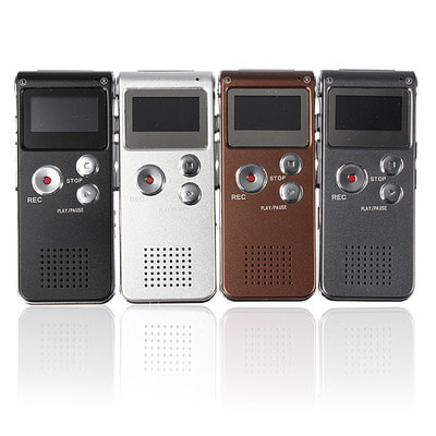 아재몰 해외직배송_녹음기_Steel Rechargeable 8GB 650HR Digital Audio Voice Recorder MP3 Player