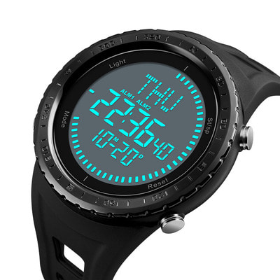 아재몰 디지털 손목시계_SKMEI 1342 Compass Chronograph Digital Watch Men Automatic Calendar Alarm Watches