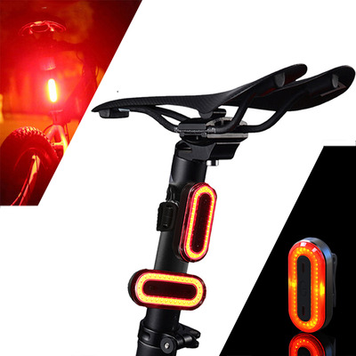아재몰 자전거 후미등 조명_XANES STL03 100LM IPX8 Memory Mode Bicycle Taillight 6 Modes Warning LED USB Charging 360 Rotation Bike Light