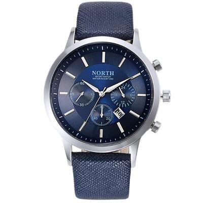 아재몰 아재 일반 손목시계_NORTH 6009 Fashion Men Quartz Watch Casual Decorative Little Dails Leather Strap Wristwatch