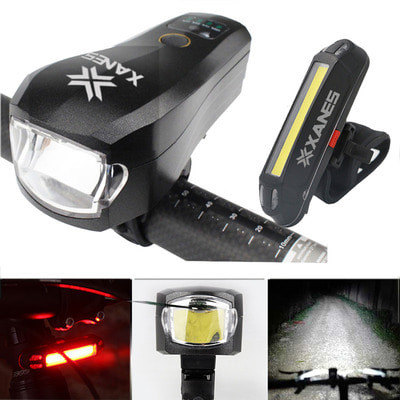 아재몰 자전거 라이트 조명세트_XANES SFL04 750LM T6 German Standard Smart Bicycle Light and 500LM USB Rechargeable LED Bike Taillig