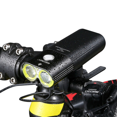 아재몰 자전거 헤드라이트 조명_GACIRON 1600 LM Bike Front Light Cycling Bicycle Rechargeable Flashlight IPX6 Waterproof 5000mAh