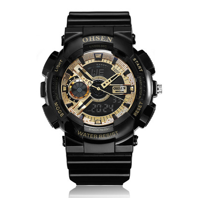 아재몰 디지털 손목시계_OHSEN AD1803 Dual Display Digital Watch Men Sport Luminous Stopwatch Alarm Waterproof Watch