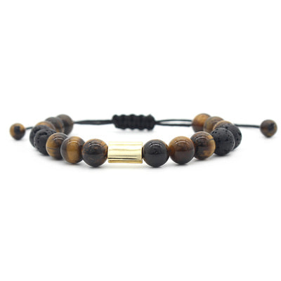 아재몰 아재 팔찌_Vintge Tiger Eye Stone Bracelets Fashion Lave Copper Adjustable Bracelet Gift for Men