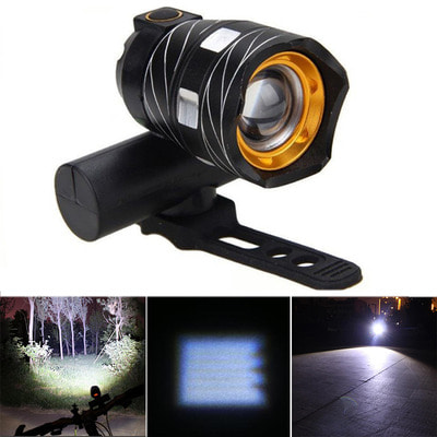 아재몰 자전거 헤드라이트 조명_XANES ZL01 800LM T6 Bicycle Light Three Modes Zoomable Night Riding USB Rechargeable Waterproof