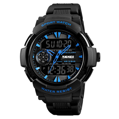아재몰 디지털 손목시계_SKMEI 1320 Dual Display Digital Watch Men Chronograph Alarm Watch Fashion Waterproof Sport Watch