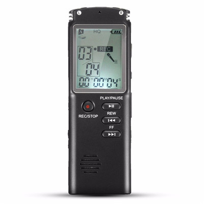 아재몰 해외직배송_녹음기_8GB Portable Rechargeable LCD Digital Audio Voice Recorder Dictaphone With MP3 Play