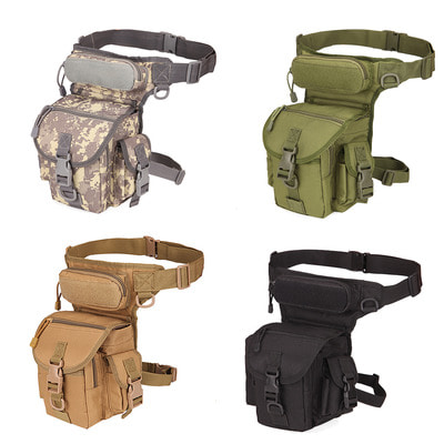 아재몰 해외직배송_밀리터리_벨트_Mens Nylon Hip Drop Belt Waist Fanny Leg Bag Waterproof Military Tactical Bag