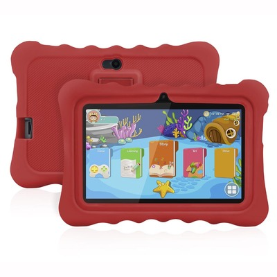 아재몰 해외직배송_태블릿_안드로이드_Ainol Q88 RK3126C 1.3GHz 1GB RAM 16G Android 7.1 OS Kid Tablet-Red