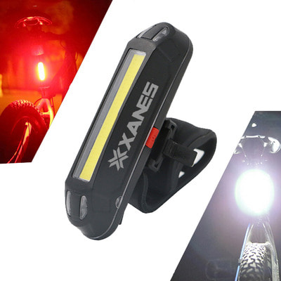 아재몰 자전거 후미등 조명_XANES 2 in 1 500LM Bicycle USB Rechargeable LED Bike Light Taillight Ultralight Warning Night