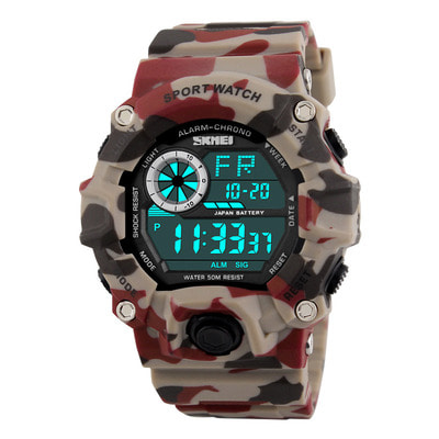 아재몰 디지털 손목시계_SKMEI 1019 Digital Watch Fashion Multi-funcional Sports Chronograph 50M Waterproof Men Wrist Watch