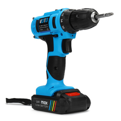 아재몰 해외직배송_전동공구_드릴_21V Reversible Li-ion Battery Cordless Drill Driver Electric Screwdriver Two-speed Drilling Tool