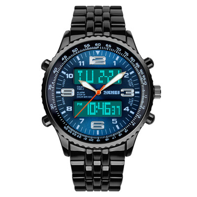 아재몰 디지털 손목시계_SKMEI 1032 Dual Display Digital Watch High Quality Stainless Steel Men Luminous Alarm Sport Watch