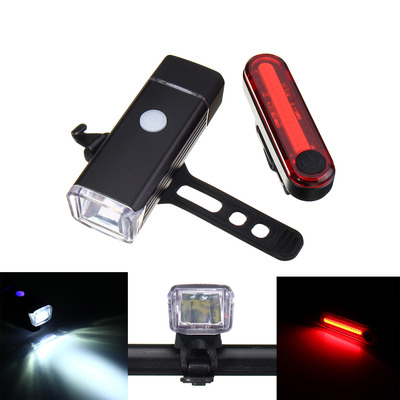 아재몰 자전거 라이트 조명세트_BIKIGHT Bicycle Front Rechargeable Headlight and Tail Rear Light Set USB Led