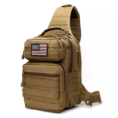 아재몰 해외직배송_밀리터리_가방_7L Outdoor Tactical Sling Bag Military Sport Daypack Backpack for Camping, Hiking, Trekking