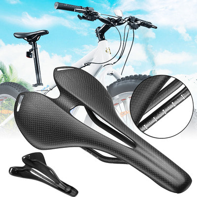 아재몰 자전거안장_BIKIGHT Carbon Fiber Bike Bicycle Saddle Seat Hollow 3K Matte Ultralight Cycling Saddle Xiaomi