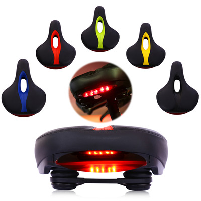 아재몰 자전거안장_BIKIGHT MTB Bike Comfort Saddle Cushion Pad Seat Bicycle Cycling LED Tail Flashing Light