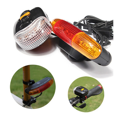 아재몰 자전거 후미등 조명_3-in-1 7 LED Cycling Turn Signal Brake Light Horn Indicator Warn