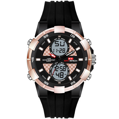 아재몰 디지털 손목시계_KAT-WACH KT711 Dual Display Digital Watch Fashion Multifunctional Men Chronograph Luminous Watch