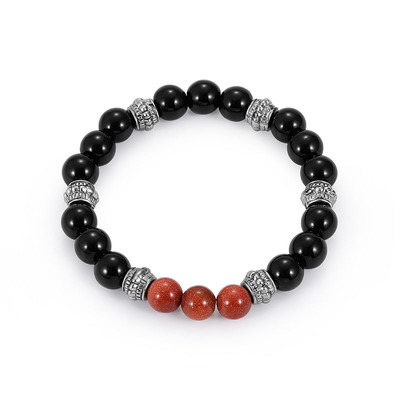 아재몰 아재 팔찌_Fashion 8mm Buddha Beads Bracelet Natural Stone Black Beaded Bracelet Jewelry for Men