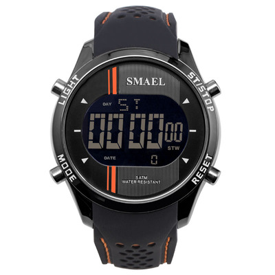 아재몰 디지털 손목시계_SMAEL 1283 Digital Watch LED Men Sport Outdoor Silicone Strap Military Male Wrist Watch