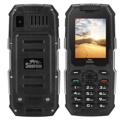 아재몰 해외직배송_피쳐폰_3G_Snowpow M2 Plus LTE 4G Network WIFI  IP68 Waterproof Android 6.0 bluetooth FM GPS Feature Phone