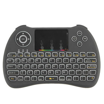 아재몰 해외직배송_키보드_H9 Wireless Colorful Backlit Ajustable Brightness 2.4GHz Touchpad Air Mouse Mini Keyboard