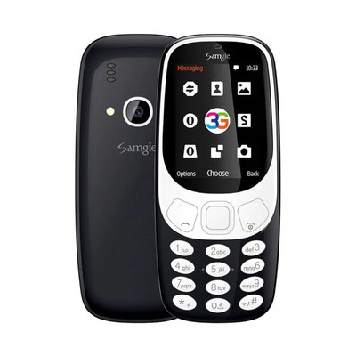 아재몰 해외직배송_피쳐폰_3G_Samgle 3310 3G Network 1450mAh 2.4 inch 3D Screen bluetooth Dual Sim Card Dual Standby Feature Phone