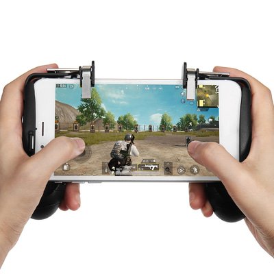 아재몰_(1392039)_스마트폰 게임 조이스틱_Fire Trigger Gamepad Joystick Phone Holder Bracket for Mobile Phone for PUBG FORTNITE