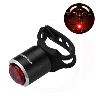 아재몰_(1215452)_자전거 후미등 조명_ROCKBROS W06 Smart Mini USB Rechargeable Bike Taillight IPX5 Waterproof 5 Lumens 29g